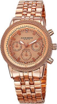 Akribos XXIV Unisex Rose Goldtone Bracelet Watch-A-722rg