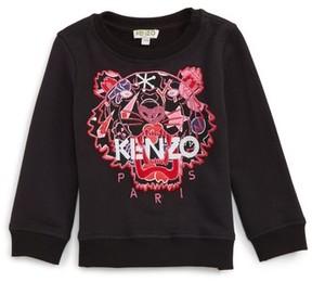 Kenzo Girl's Embroidered Tiger Logo Sweatshirt