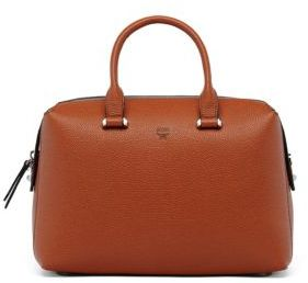 MCM Ella Boston Leather Bowler Bag