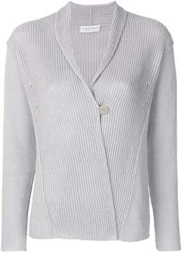 Le Tricot Perugia one button cardigan