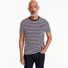 J.Crew Jeans slub cotton T-shirt in navy stripe