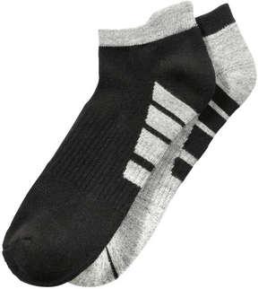 Joe Fresh Men's 2 Pack Low Cut Sport Socks, JF Black (Size 10-13)