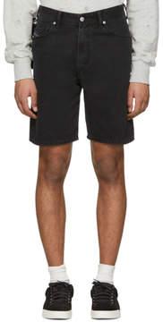 Diesel Black Denim D-Wiloh Shorts