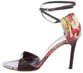 Roberto Cavalli Abstract Print Sandals