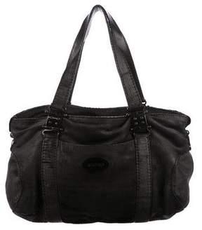 Rochas Pleated Chevre Shoulder Bag
