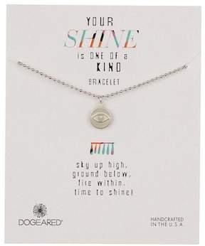 Dogeared Sterling Silver Your Shine Eye Charm Bracelet