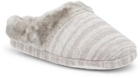 Isaac Mizrahi Camden Pattern Faux Fur Lined Slipper