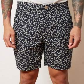 Blade + Blue Indigo Floral Print Shorts