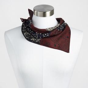 World Market Navy and Wine Printed Kerchief