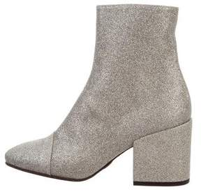 Dries Van Noten Glitter Round-Toe Ankle Boots w/ Tags