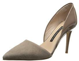 French Connection Womens Fc-elvia Leather Pointed Toe D-orsay Pumps.