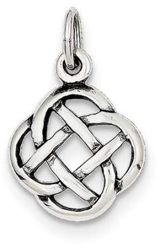 Celtic Jewelrypot Sterling Silver Antiqued Knot Charm (0.9in long x 0.6in wide)