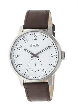 Simplify The 3400 Collection SIM3401 Silver Analog Watch