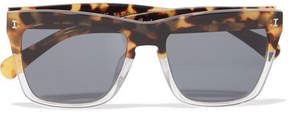 Illesteva Los Feliz Square-frame Acetate Sunglasses - Tortoiseshell