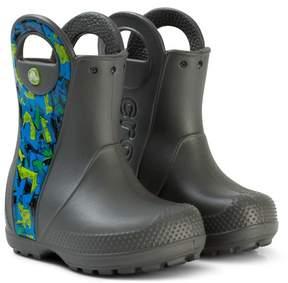 Crocs Grey Graphic Handle It Boots