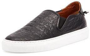Givenchy Logo-Embossed Leather Skate Shoe, Black/White