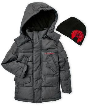 Weatherproof Boys 8-20) Two-Piece Hooded Puffer Jacket & Beanie Set