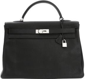 Hermes Kelly leather satchel - BLACK - STYLE
