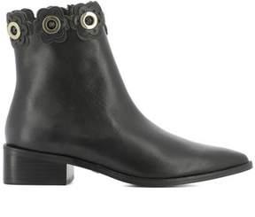 Kat Maconie Women's Black Leather Ankle Boots.