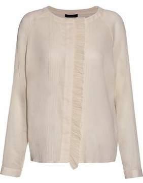 Belstaff Ruffle-Trimmed Cotton-Gauze Blouse