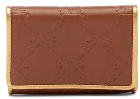 Longchamp Small Leather Wallet - OAK BROWN - STYLE