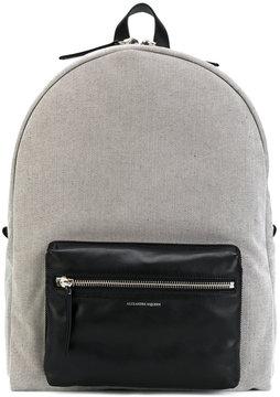 Alexander McQueen skull zip backpack