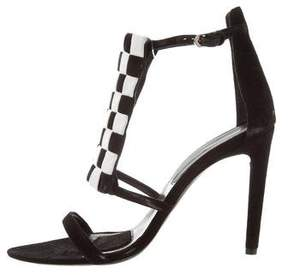 Proenza Schouler Suede Checkerboard Sandals