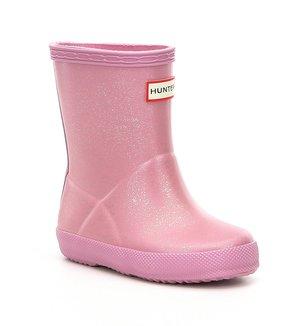 Hunter Girls' Original First Glitter Waterproof Rain Boots