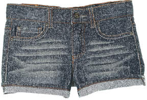 DKNY Kids Girls' Dark Denim Cuffed Hipster Short