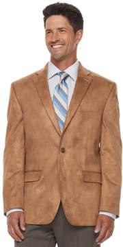 Chaps Big & Tall Classic-Fit Faux-Suede Stretch Sport Coat