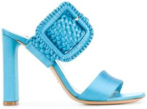 Casadei woven buckle heeled sandals