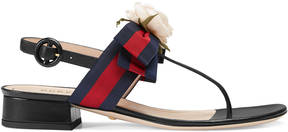 Gucci Web and leather sandal