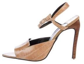 Versace Embossed Pointed-Toe Sandals