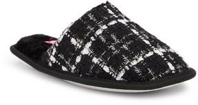 Isaac Mizrahi Teba Sparkle Detail Pattern Faux Fur Lined Slipper