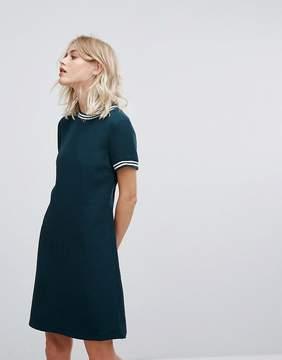 Esprit Contrast Rib Shift Dress