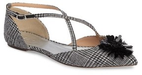 J.Crew Women's Sadie Cross Strap Pointy Toe Flat