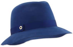Loro Piana Ingrid Velvet Felt Fedora Hat