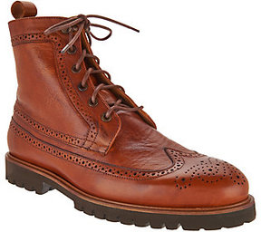 Vince Camuto Leep Men's Wingtip Lace Up Boots