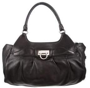 Salvatore Ferragamo Gancio Leather Shoulder Bag