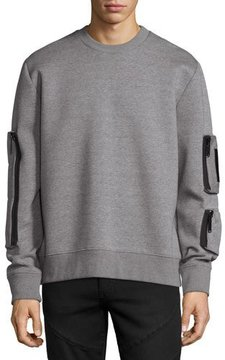 Public School Neoprene Pocket Sweatshirt, Gray
