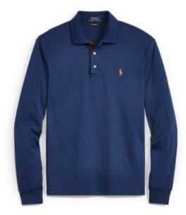 Ralph Lauren Classic Fit Long-Sleeve Polo Monroe Blue Heather Xs