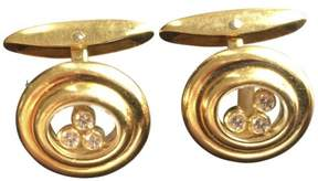 Chopard 18K Yellow Gold Diamond Cufflinks
