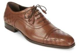 Mezlan Checked Leather Oxford Shoes