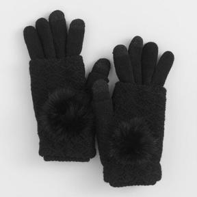 World Market Black 3 Way Touch Screen Gloves