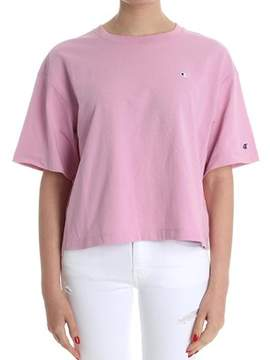 Champion Women's Pink Cotton T-shirt.