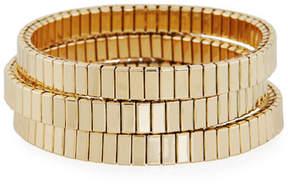 Neiman Marcus Watch Out Stretch Bracelet, Golden