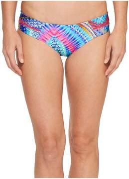 Luli Fama Star Girl Stitched Straps Reversible Moderate Bottoms Women's Swimwear