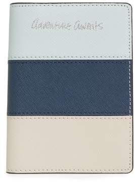 Rebecca Minkoff Adventure Awaits Leather Passport Case - BLUE - STYLE
