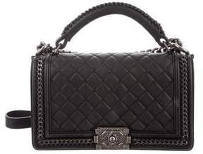 Chanel 2017 Medium Boy Chain Handle Bag