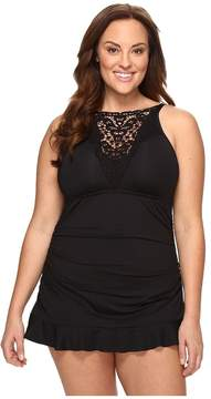 Becca by Rebecca Virtue Plus Size Black Beauties One-Piece